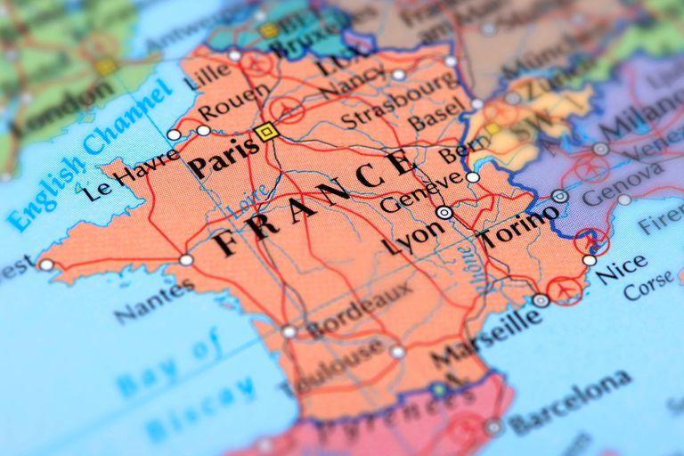 Cartina Geografica Del Sud Della Francia.Territorio Della Francia In Francia