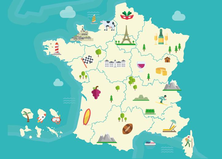 Cartina Politica Francia Con Regioni E Capoluoghi.Regioni Francesi Alla Scoperta Della Francia In Francia